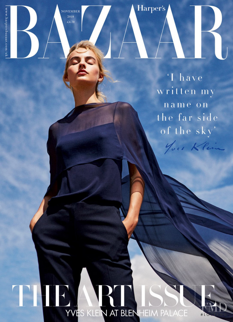 Maartje Verhoef featured on the Harper\'s Bazaar UK cover from November 2018