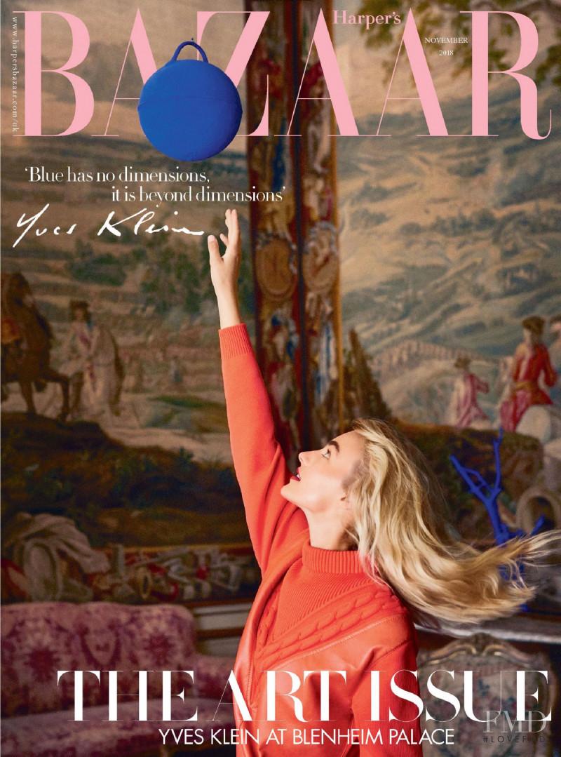 Maartje Verhoef featured on the Harper\'s Bazaar UK cover from November 2018