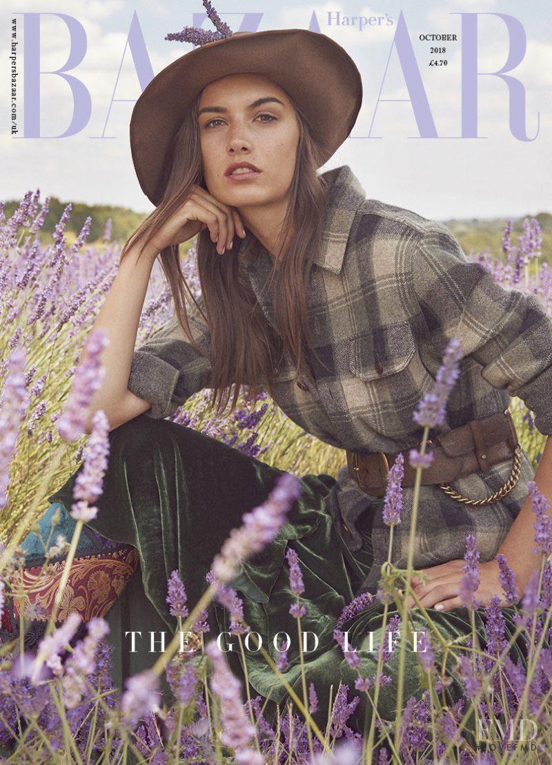 Ronja Furrer featured on the Harper\'s Bazaar UK cover from October 2018