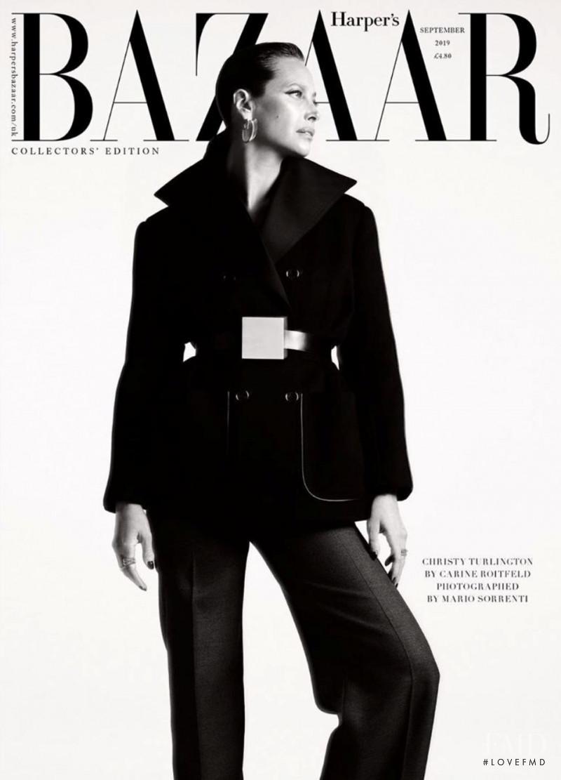 Christy Turlington featured on the Harper\'s Bazaar UK cover from September 2019