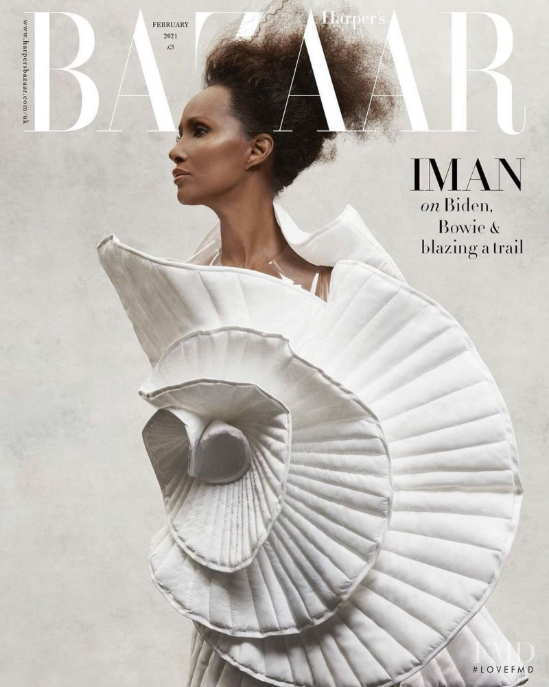 Iman Abdulmajid featured on the Harper\'s Bazaar UK cover from February 2021
