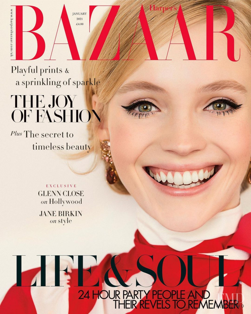 Lucan Gillespie featured on the Harper\'s Bazaar UK cover from January 2021