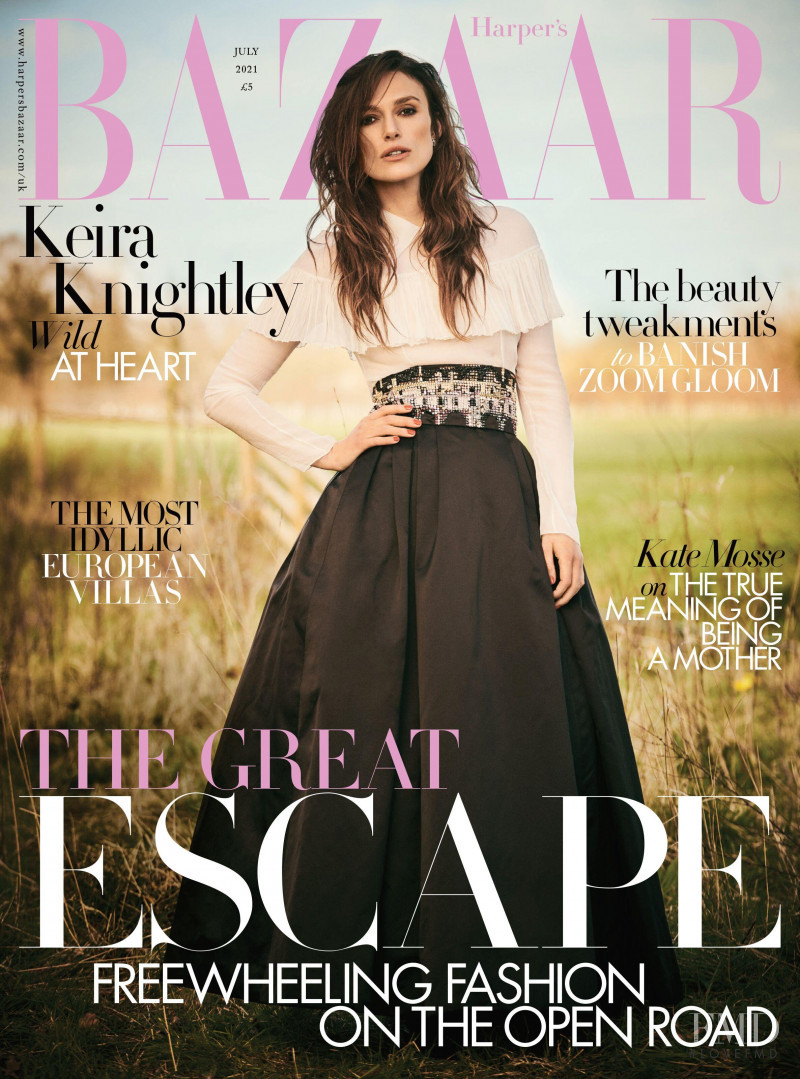 Keira Knightley featured on the Harper\'s Bazaar UK cover from July 2021
