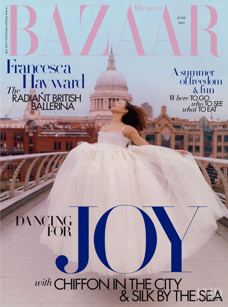 Francesca Hayward featured on the Harper\'s Bazaar UK cover from June 2021