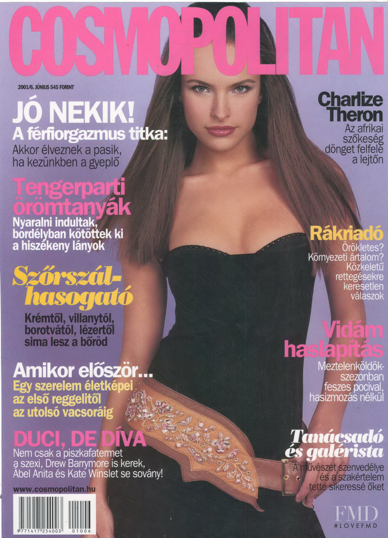 Ljupka Gojic featured on the Cosmopolitan Hungary cover from June 2001