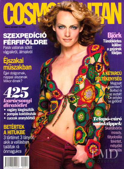 Amber Valletta featured on the Cosmopolitan Hungary cover from November 2002