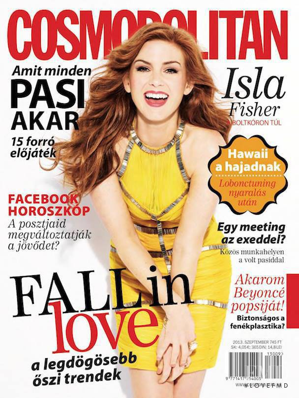 Isla Fisher featured on the Cosmopolitan Hungary cover from September 2013
