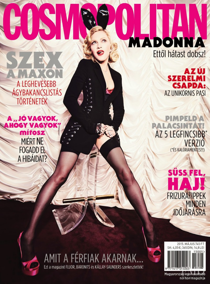 Madonna featured on the Cosmopolitan Hungary cover from May 2015