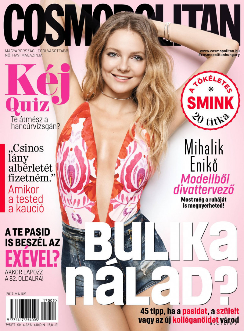 Eniko Mihalik featured on the Cosmopolitan Hungary cover from May 2017