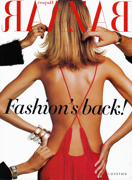 Gisele Bundchen featured on the Harper\'s Bazaar USA cover from February 2002
