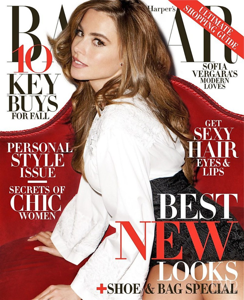 Sofia Vergara featured on the Harper\'s Bazaar USA cover from August 2013