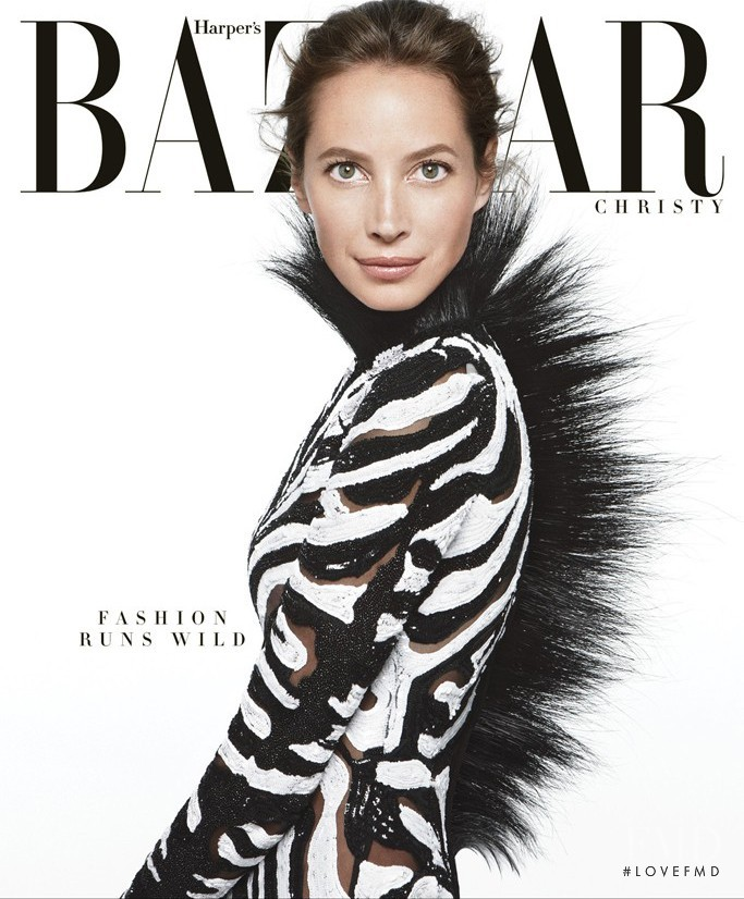 Christy Turlington featured on the Harper\'s Bazaar USA cover from June 2013