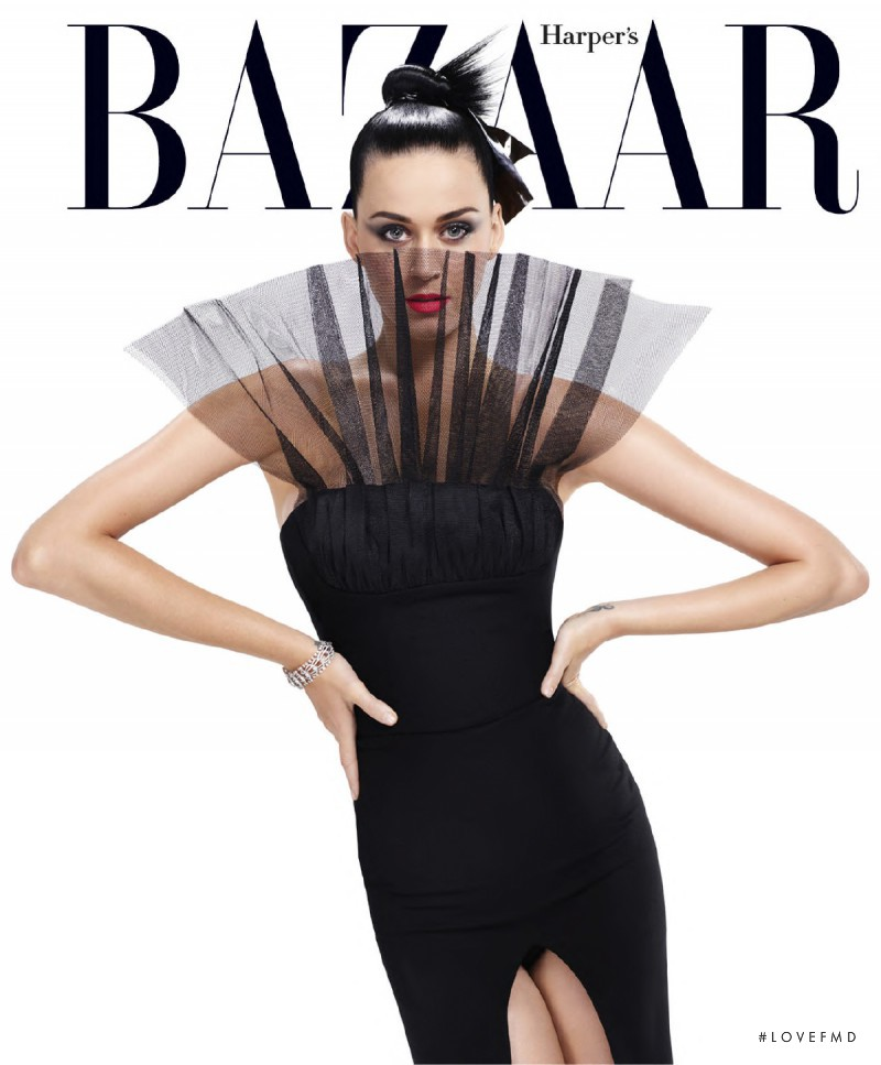 Katy Perry featured on the Harper\'s Bazaar USA cover from September 2015