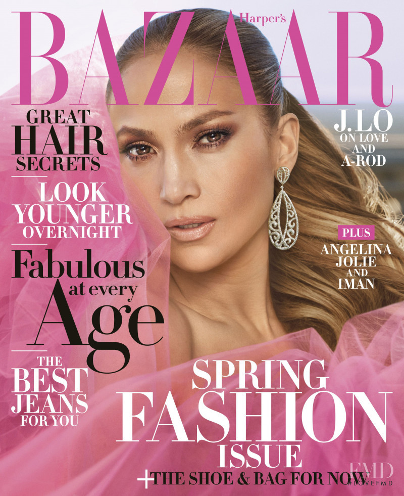 Jennifer Lopez  featured on the Harper\'s Bazaar USA cover from April 2018