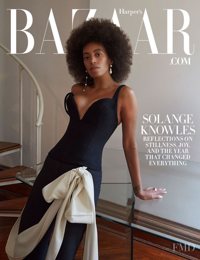 Solange Knowles featured on the Harper\'s Bazaar USA cover from October 2020
