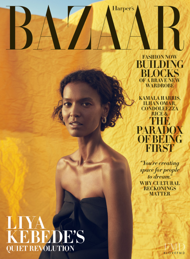 Liya Kebede featured on the Harper\'s Bazaar USA cover from November 2020