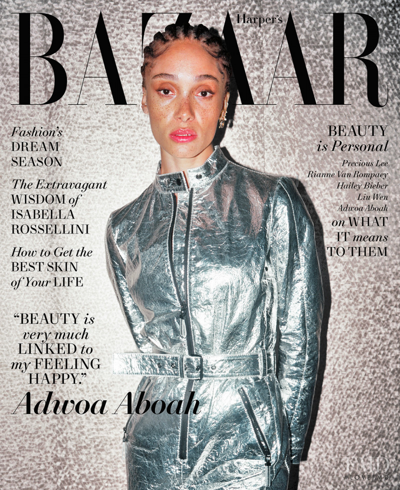 Adwoa Aboah featured on the Harper\'s Bazaar USA cover from May 2021
