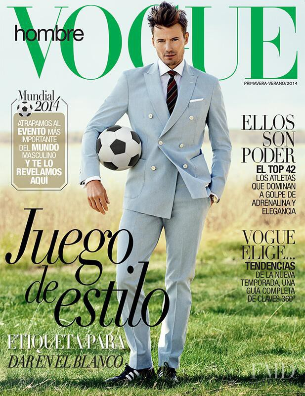 Alex Lundqvist featured on the Vogue Hombre Mexico cover from June 2014