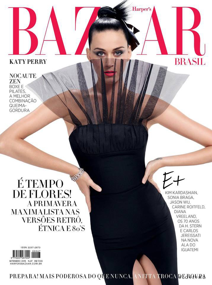 Katy Perry featured on the Harper\'s Bazaar Brazil cover from September 2015
