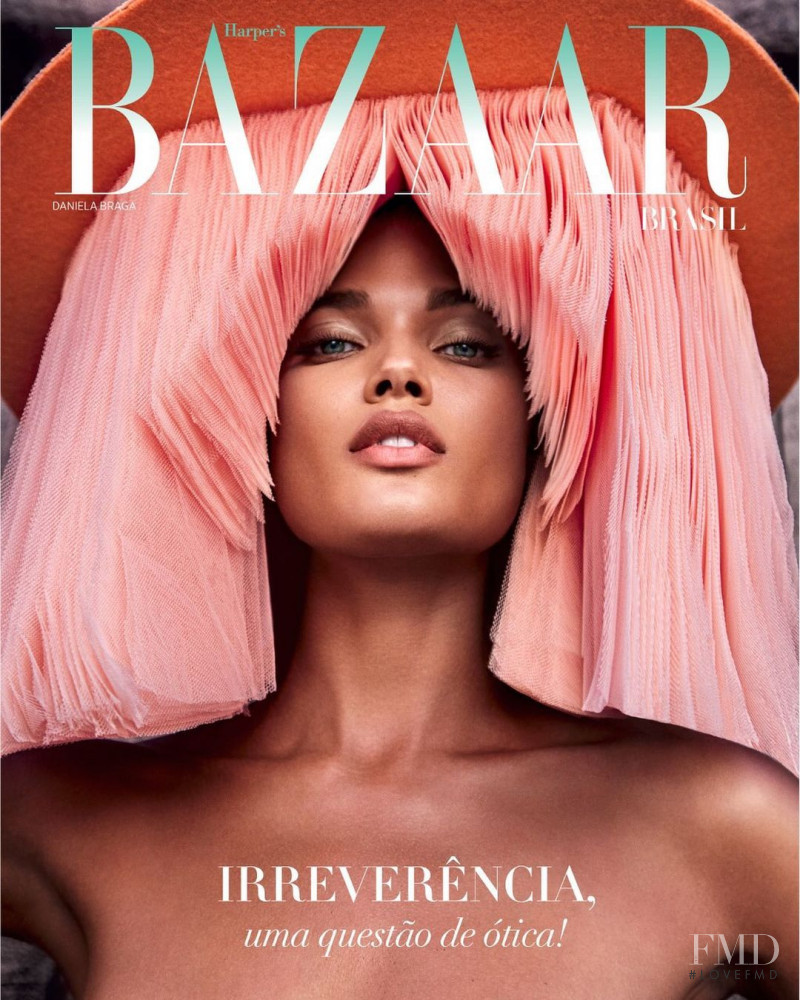 Daniela Braga featured on the Harper\'s Bazaar Brazil cover from October 2020