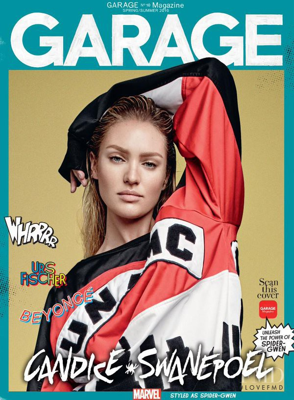 Candice Swanepoel featured on the Garage cover from February 2016