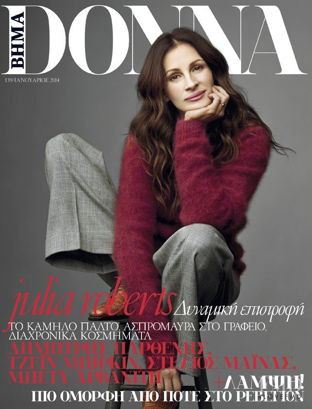 Julia Roberts featured on the BHMAdonna cover from January 2014