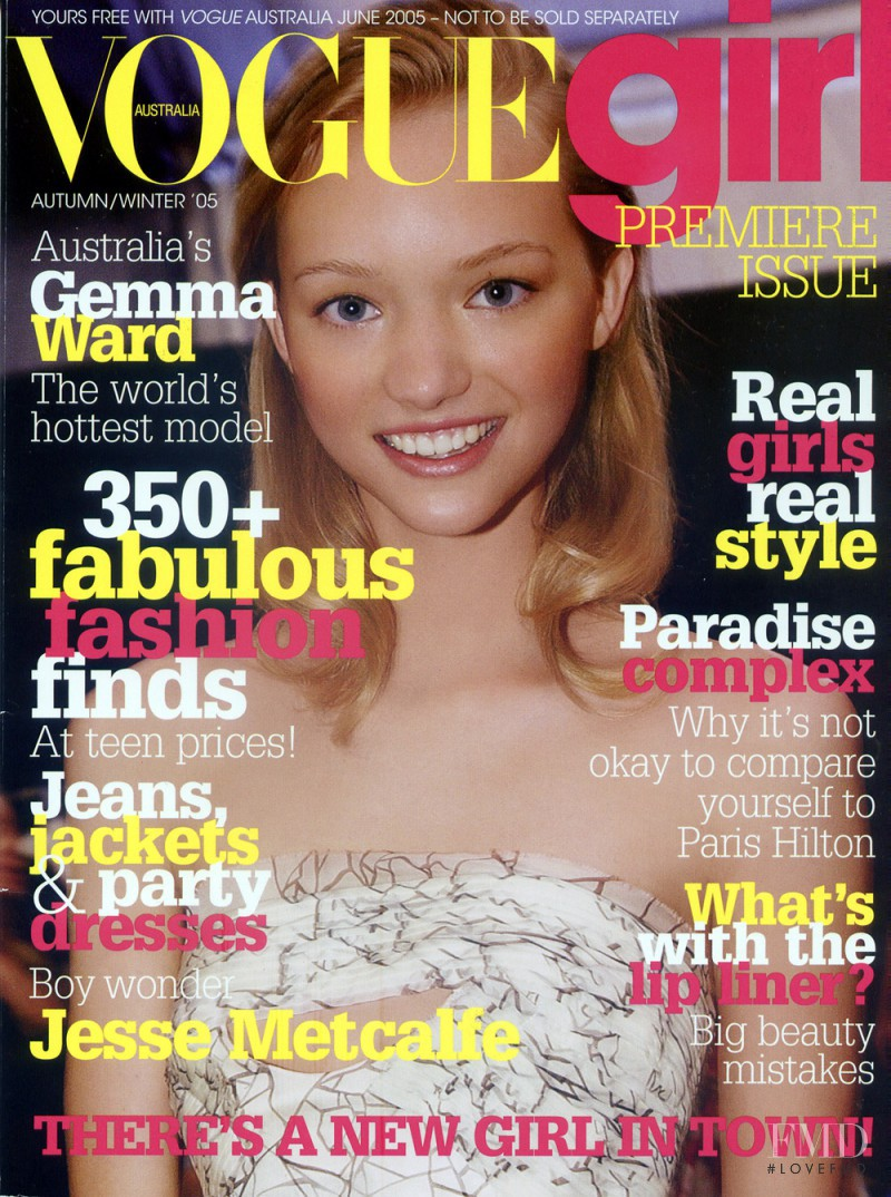 Gemma Ward featured on the Vogue Girl Australia cover from September 2005