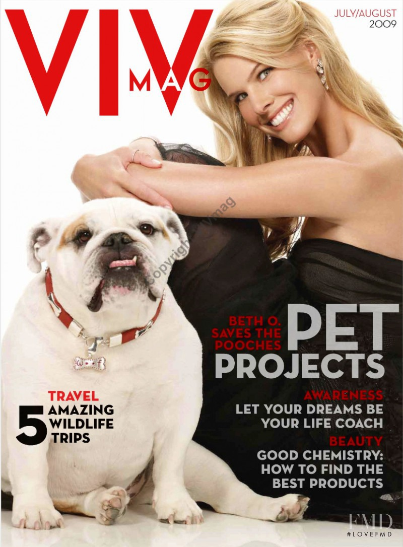 Beth Ostrosky featured on the VIV Mag cover from July 2009