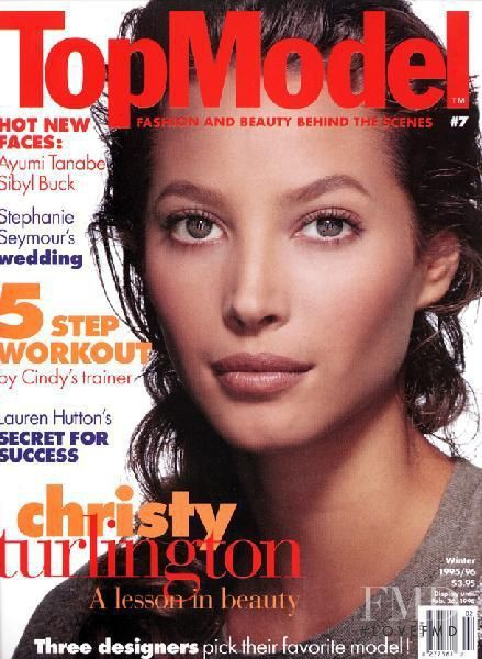 Cover Of Top Model With Christy Turlington  December 1995  Id 10504