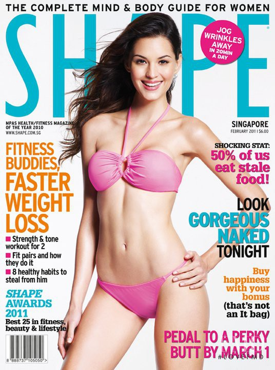 Barbara Barreto featured on the Shape Singapore cover from February 2011