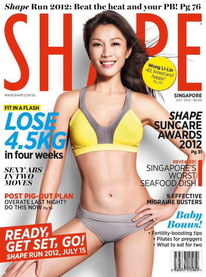 featured on the Shape Singapore cover from July 2012