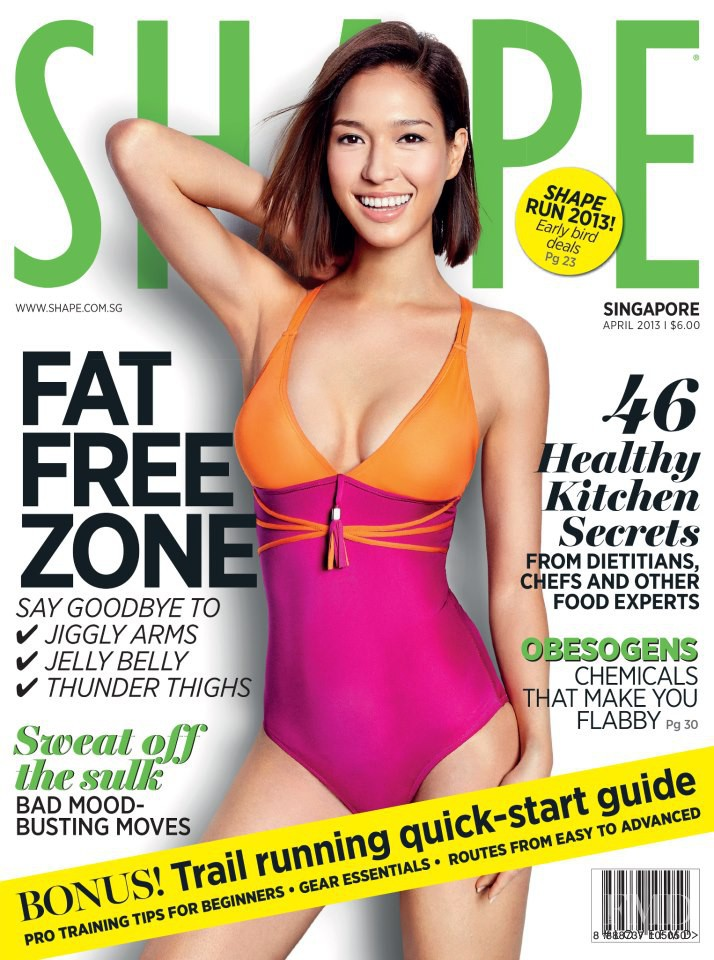 featured on the Shape Singapore cover from April 2013