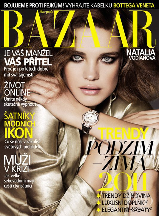 Natalia Vodianova featured on the Harper\'s Bazaar Czech cover from August 2011