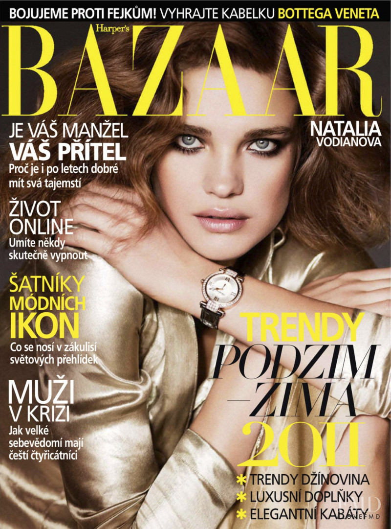 Natalia Vodianova featured on the Harper\'s Bazaar Czech cover from September 2011