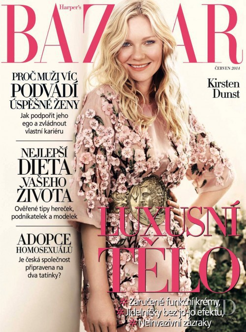 featured on the Harper\'s Bazaar Czech cover from June 2014