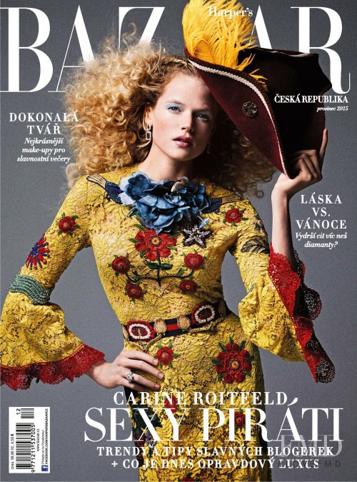 featured on the Harper\'s Bazaar Czech cover from December 2015