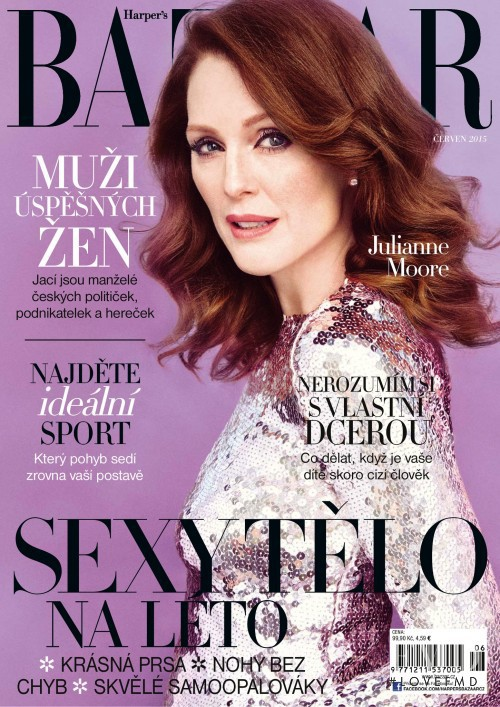 Julianne Moore featured on the Harper\'s Bazaar Czech cover from June 2015