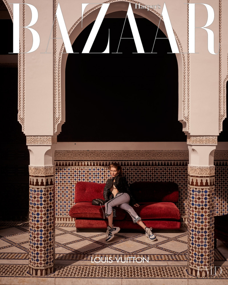Caroline Lossberg featured on the Harper\'s Bazaar Czech cover from June 2018