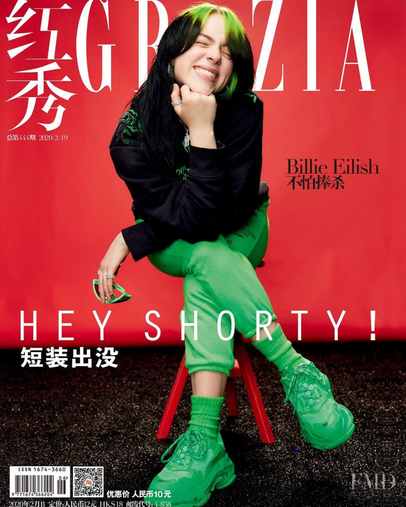 Cover of Grazia China with Billie Eilish, February 2020 ...