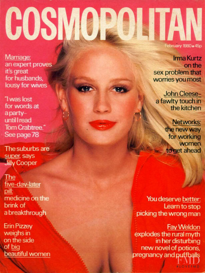 Bitten Knudsen featured on the Cosmopolitan UK cover from February 1980