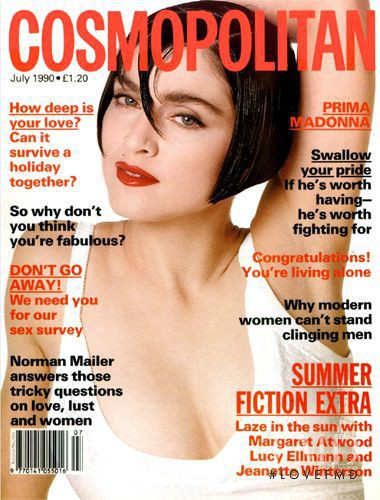 Madonna featured on the Cosmopolitan UK cover from July 1990