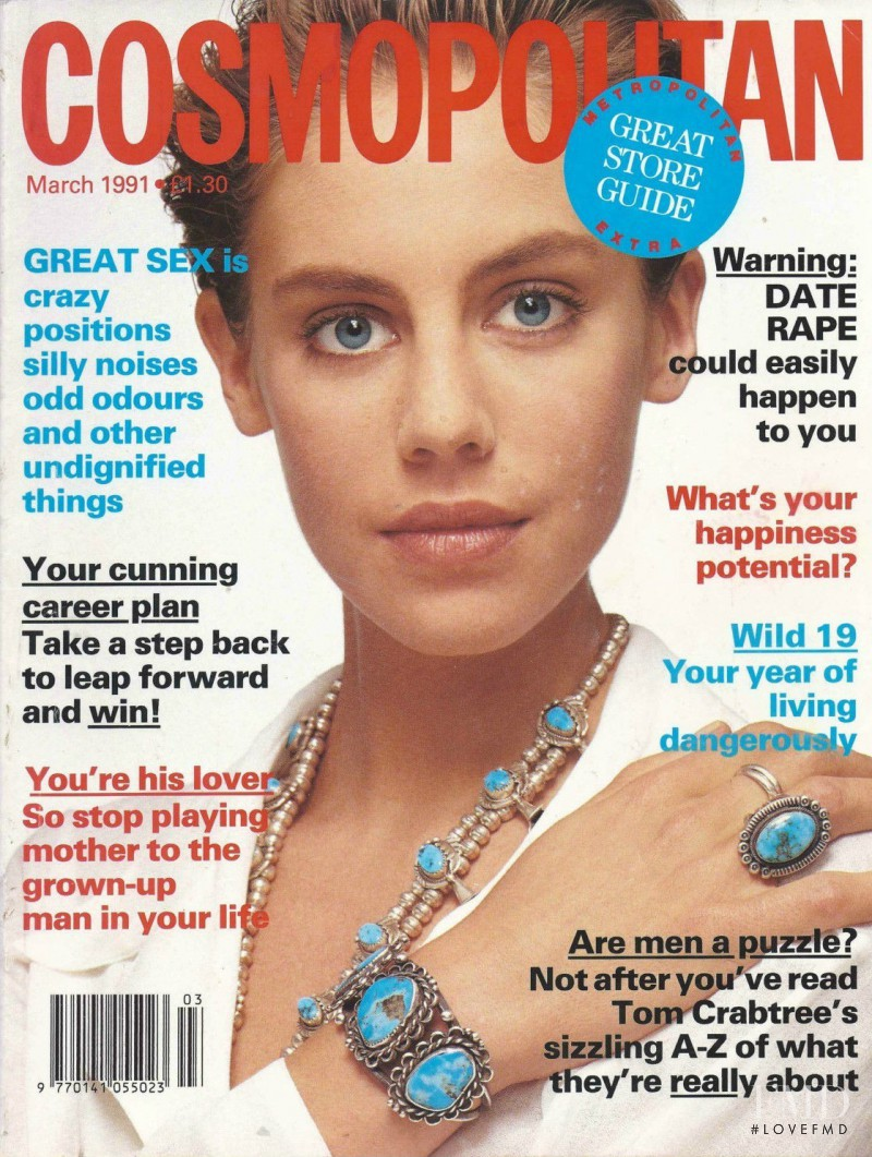 Julie Feiten featured on the Cosmopolitan UK cover from March 1991