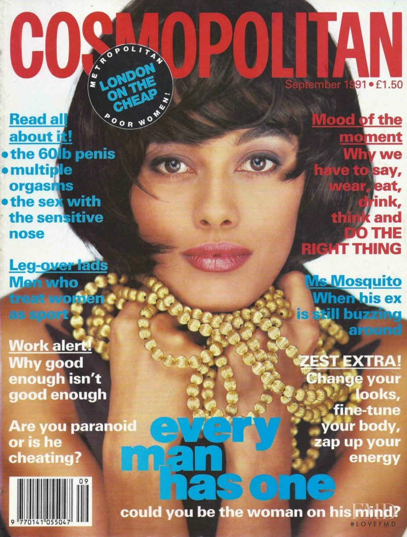 Sophie Cuadrat featured on the Cosmopolitan UK cover from September 1991