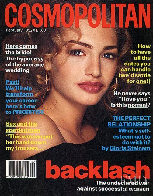 Michaela Bercu featured on the Cosmopolitan UK cover from February 1992
