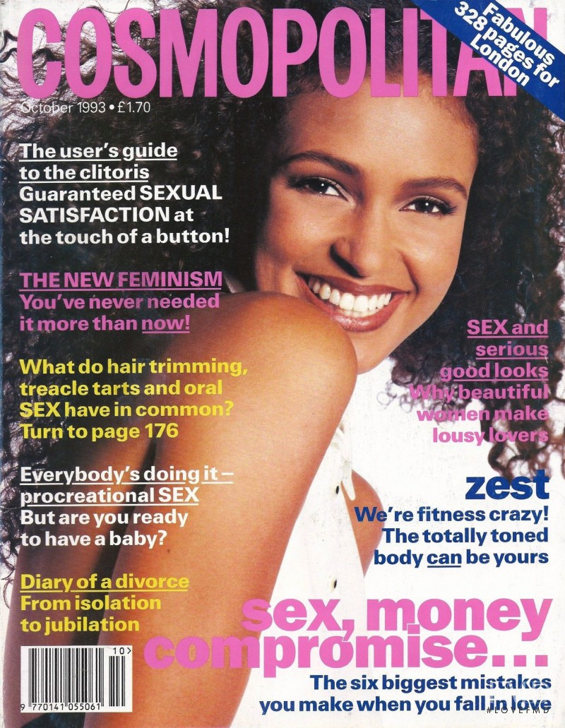 Akure Wall featured on the Cosmopolitan UK cover from October 1993