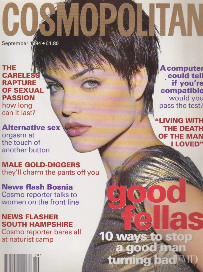 Luciana Curtis featured on the Cosmopolitan UK cover from September 1994