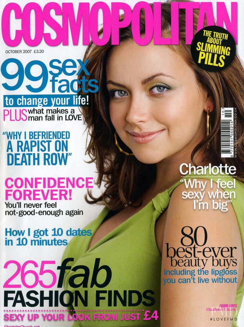 Charlotte Church featured on the Cosmopolitan UK cover from October 2007