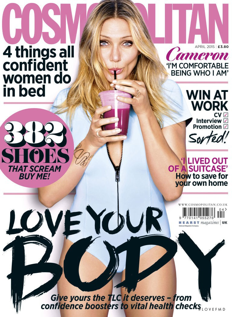 Cameron Diaz featured on the Cosmopolitan UK cover from April 2015