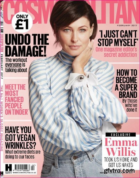 Emma Willis featured on the Cosmopolitan UK cover from February 2017