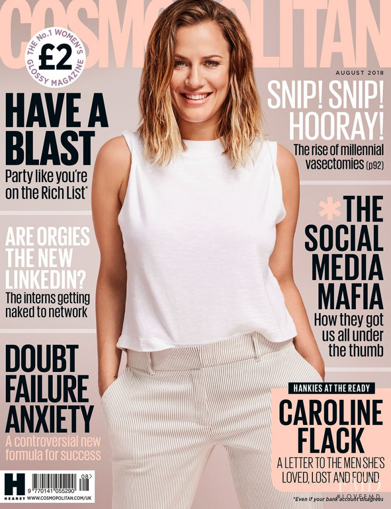 Caroline Flack  featured on the Cosmopolitan UK cover from August 2018